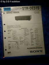 Sony Service Manual STR DE515 FM/AM Receiver (#5309)