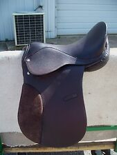 """general purpose brown leather suede english saddle 16.5"""" 16 1/2"""" no brand"""