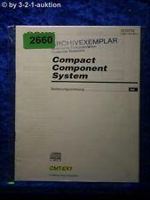 Sony Bedienungsanleitung CMT EX1 Component System (#2660)