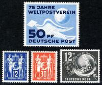 DDR 1949, Jahrgang tadellos postfrisch, Mi. 46,-