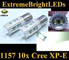TWO Xenon HID WHITE 50W High Power 10x Cree XP-E 1157 2357 Backup Lights Bulbs