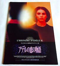 L'Histoire D'Adele H. JAPAN MOVIE PROGRAM BOOK 1994 Isabelle Adjani Truffaut