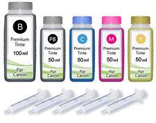 300ml nachfüll tinta para Canon PIXMA ip4850 ip4950 ix6550 mg5150 mg5250 mg5350