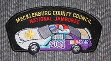BSA Patch 2001 National Jamboree Mecklenburg County Council Nascar