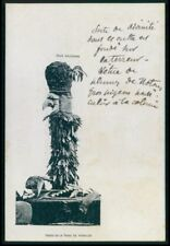 Ethnic New Caledonia Voodoo Fetish Doll of Houa'lou tribe c1900s postcard