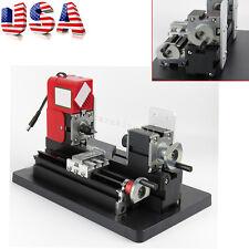 From US Mini Wood Working Lathe Motorized Machine DIY Tool Metal Multi-use Easy