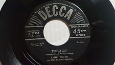 """ETHEL SMITH & THE BANDO CARIOCA - Tico-Tico 1950 SAMBA JAZZ 7"""" EP Decca"""