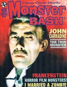 Monster Bash #25 Summer 2015 John Carradine Frankenstein I Married a Zombie