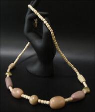 Joya Collar Cadena de Madera Marrón Pastel Natural 75 Cm #99
