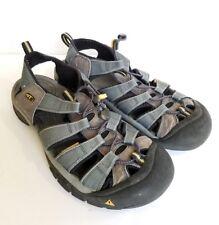 Keens Sport Sandals Mens Shoe Size 12 12.5 Gray Blue Water Hike Nylon