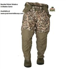 Red Zone Breathable Insulated Waist Waders - Blades Camo by Banded Gear