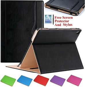 """New iPad 10.2"""" (9th, 8th,7th Gene) 2021-19 Genuine Leather Flip Stand Case Cover"""