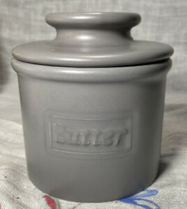 The Original Butter Bell Crock by L. Tremain Antique Collection Vintage Grey