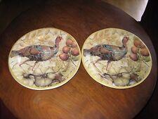 "Set of 2 Salad Plates FRESCO TURKEY (Female) Pottery Barn 9"" MINT"