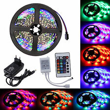 5M 3528 SMD RGB LED Strip e Band Streifen IP20 Lichtband Fernbedienung Trafo