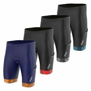 Mens Cycling Shorts with Pockets 3D Anti-Bac Padding All Day Men MTB Bike Shorts