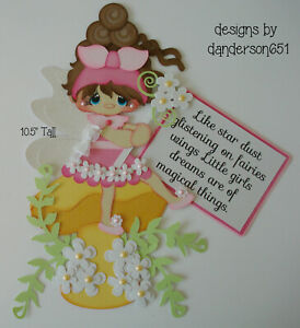 GiRL FaiRiEs KiDs PreMade Paper Piecing Die Cut Scrapbook Border danderson651