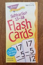 Subtraction Flash Cards 13-18 Trend Brand Factory Sealed New Ages 6+