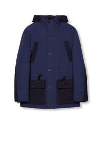 Esprit Men's Jacket with hood Size XL BNWT blue /black