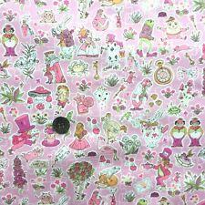 Liberty Tana lawn fabric *Gallymogger's Reynard* ~ 42cm wide x 48cm long - pink