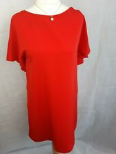 Zara Basic Colección hacia el rojo Vestido Espalda en V con detalle de espalda Cape Tamaño Med