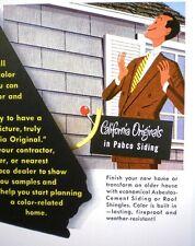 1952 PABCO Catalog ASBESTOS Cement Siding Roof Shingles Owens Corning Fibreboard