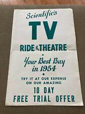 MR1150:Scientific's TV Ride & Theatre Coin Op Advertising Poster Brochure
