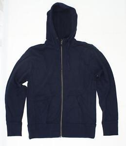 nEW District Threads Full Zip Fleece Hooded Jacket Navy XS 02630