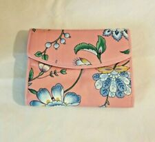 Makeup Travel Bag NWOT Pink With Blue Flowers