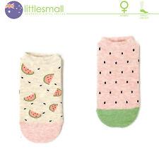 2 Pairs Women Girls Socks Hosiery Ankle Low Cut Fruit Watermelon Cute Casual