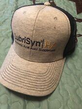 New Grey Blue Ball Cap Adjustable Lubrisyn/Ha Logo