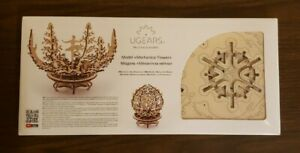 Ugears 'Flower' Mechanical Wooden Model KIT - 3D puzzle, Self Assembling