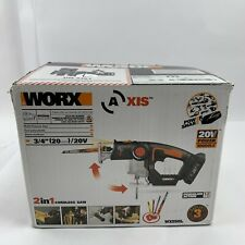 """WORX WX550L Axis 3/4"""" 20V Cordless Saw w/ Battery + Charger (B9) New Open Box"""
