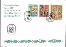 Norway - 1981 - Religious Christmas Tapestries Complete Set # 794 - 796 FDC Nice