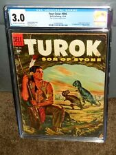 RARE FULL COLOR #596 CGC 3.0 FIRST APPEARANCE OF TUROK SON OF STONE DELL