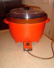 Vintage Rival Crock Pot Model # 3300-2 Orange