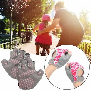 1 Pair Kids Half Finger Cycling Gloves Non‑Slip Breathable Glove for Riding New