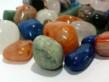"900 GRAMS ALL NATURAL BULK TUMBLED STONE MIX ""Not Dyed"" CRYSTAL HEALING GEMS"