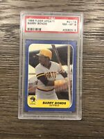 1986 Fleer Update Barry Bonds PSA 8 Pittsburgh Pirates #14 Baseball 2 Available