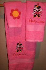 Minnie Mouse Flower Polka Dot Personalized 3 Piece Bath Towel Set