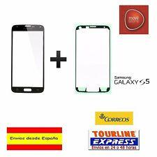 CRISTAL EXTERIOR PANTALLA FRONTAL + ADHESIVO SAMSUNG GALAXY S5 G900 COLOR NEGRO