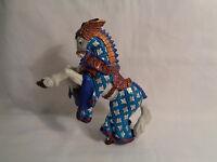 2007 Papo Medieval Horse Figure White / Blue