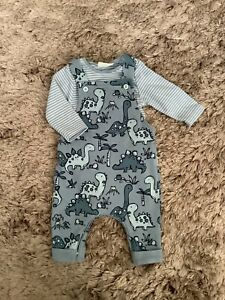 NEXT BABY BOYS 0-3 MONTHS 🦕DINOSAUR DUNGAREES, SET, OUTFIT BUNDLE COMBINE POST