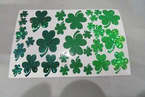 30 Irish Shamrock Stickers Self Adhesive - St Patricks Day