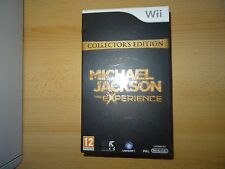 Michael Jackson: The Experience Nintendo Wii Collectors Edition Neuf Scellé PAL