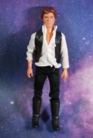 VINTAGE Star Wars LARGE 12 INCH Han Solo FIGURE + VEST & BOOTS KENNER 12in doll