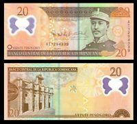Dominican Republic 20 Pesos 2009 Polymer P-182 Banknotes UNC /* GREGORIO LUPERON