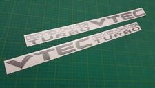 DOHC VTEC TURBO decals side replacement restoration stickers graphics Civic JDM