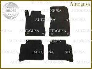 LHD MERCEDES BENZ W211 02-09 BLACK TAILORED CAR FLOOR MATS VELOUR AUTO CARPETS