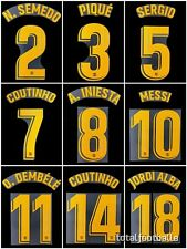 Barcelona 2018-19 Home Name Set FC Barcelona Player Issue Match Avery Dennison